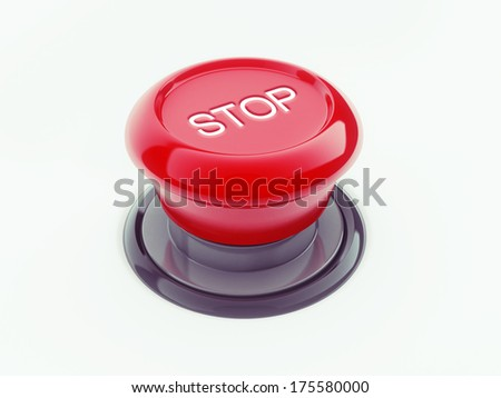 Stop Button isolated on white background