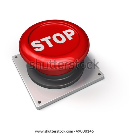 STOP Button (Red) - stock photo