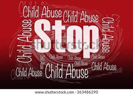 Stop Child Abuse - stock photo