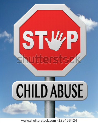 stop child abuse prevention from domestic violence and neglection end abusing children - stock photo