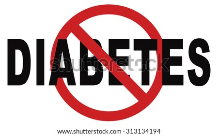 stop diabetes eat less sugar go on a diet and eat healthy prevention - stock photo