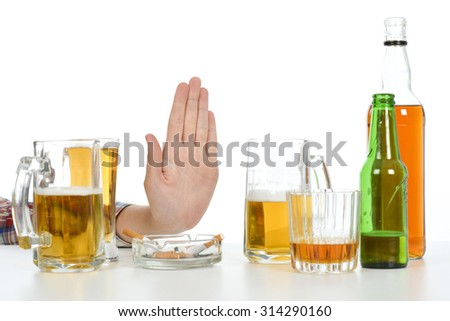 Stop drinking alcohol - stock photo