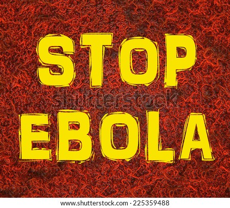 Stop Ebola text on blood vessel background  - stock photo