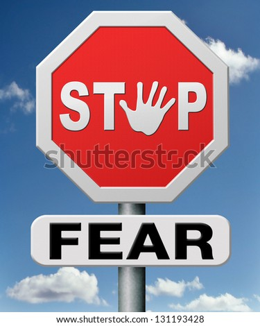 stop fear or being afraid for snakes height needles spiders darkness arachnaphobia phobia psycholigical paralysis panic attack - stock photo
