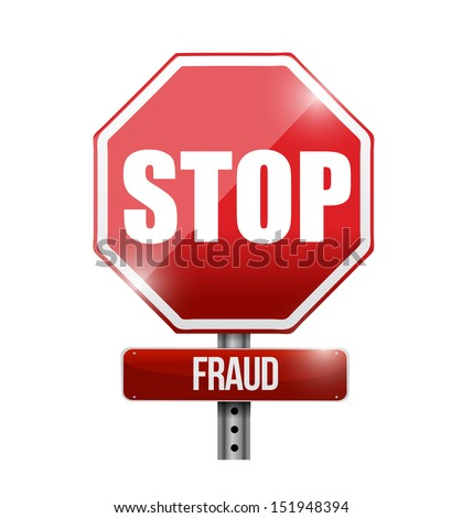 stop fraud road sign illustration design over a white background - stock photo