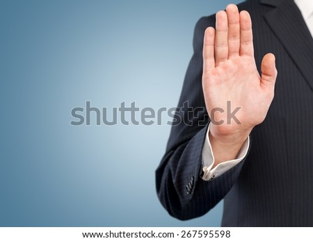 Stop, hand, no. - stock photo