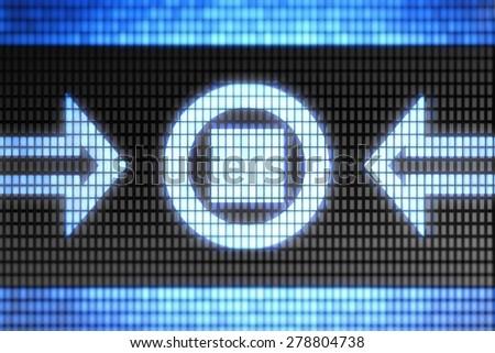 Stop icon - stock photo