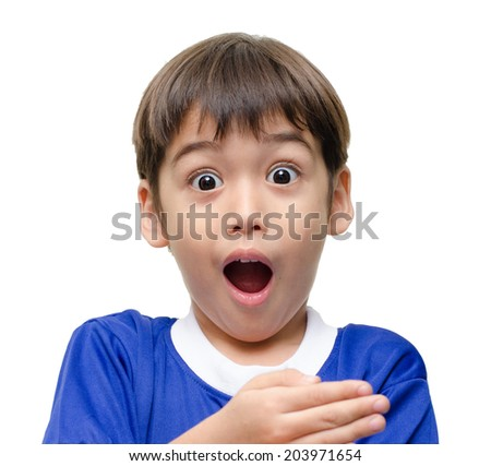 stop kid hand sign language on white background