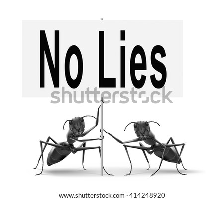stop lies no more lying tell the truth - stock photo