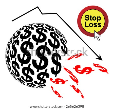 Stop Loss. Order to limit the loss of an investment when stock trades are below a certain price - stock photo