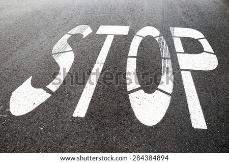 stop on the street