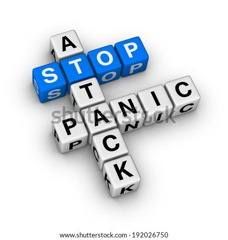 stop panic attack crossword puzzle - stock photo