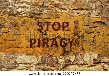 Stop piracy - stock photo