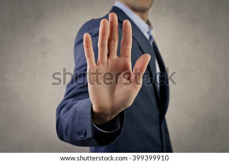 Stop, please! - stock photo