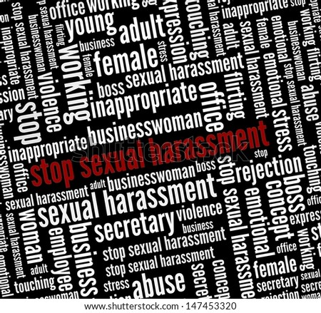 Stop Sexual harassment in word collage - stock photo