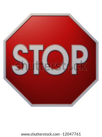 Stop sign illustration - stock photo