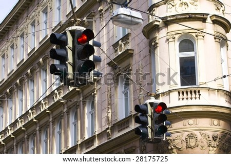 stop sign in Vienna (Austria) - stock photo