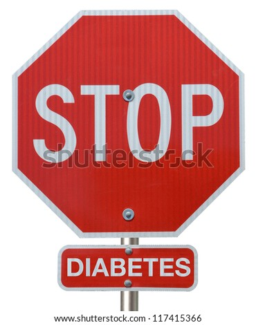 "Stop sign reading ""Stop Diabetes"""