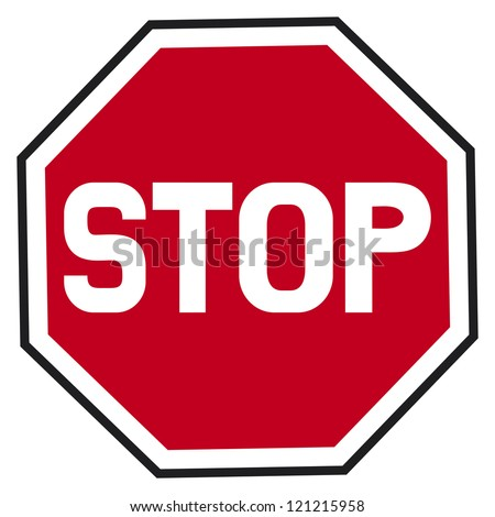stop sign (traffic stop sign) - stock photo