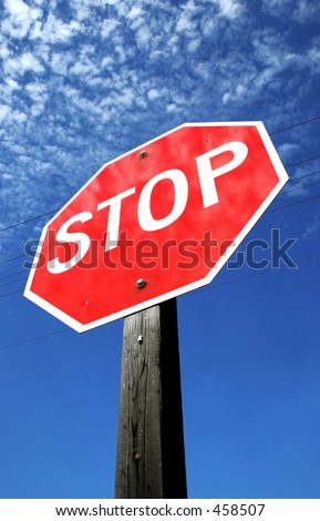 Stop Sign wide angle