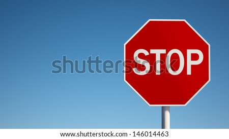 Stop Sign with Clipping Path