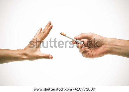 Stop smoking cigarette