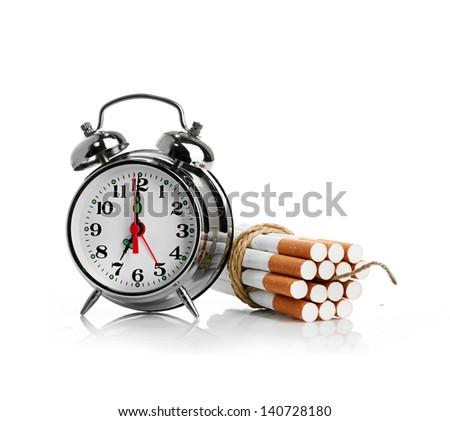 stop smoking.  isolated on white background - stock photo