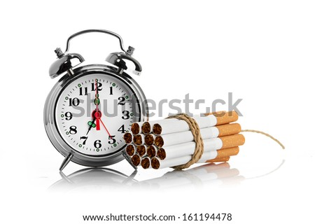 stop smoking.  isolated on white background - stock photo