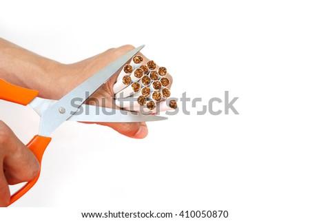 stop smoking, quit, free, symbol cigarette tobacco background - stock photo