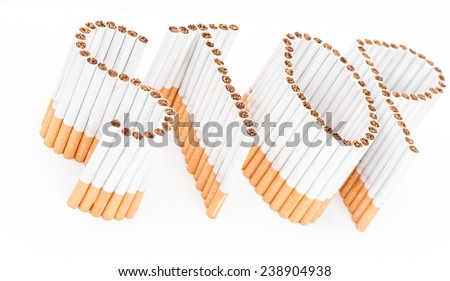 Stop smoking with the written word - stock photo