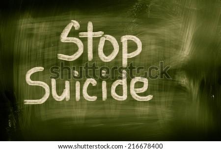 Stop Suicide Concept - stock photo