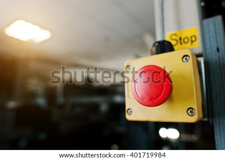 Stop switch in the engine room - stock photo