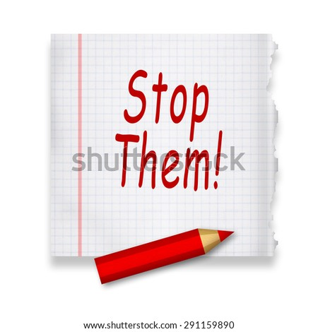 Stop them note - stock photo