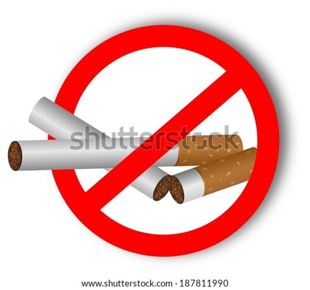 Stop using narcotics - sticker  - stock photo