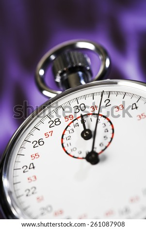 Stop watch, close-up - stock photo