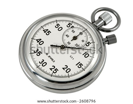 Stop-watch, isolated on white, clipping path included - stock photo