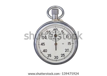 stop-watch under the white background - stock photo