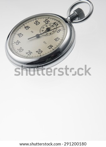 stop watch with depth of field - stock photo
