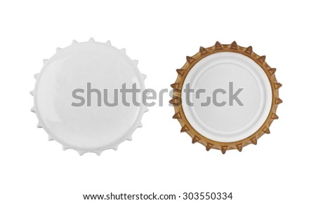 Stopper from a bottle beer isolated on a white background - stock photo