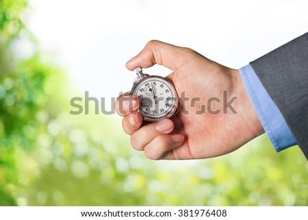 Stopwatch. - stock photo