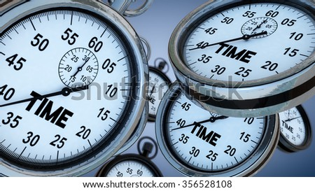 Stopwatch and time concept - stock photo