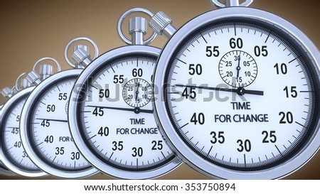 Stopwatch and time 3d concept