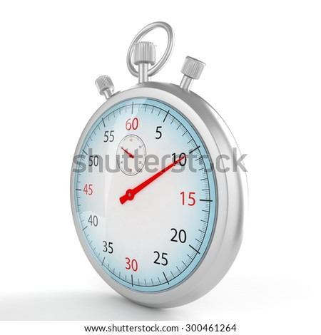 stopwatch 3d illustration - stock photo