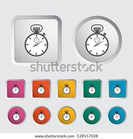 Stopwatch icon. Vector version also available in my portfolio. - stock photo
