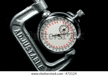 StopWatch in a Clamp - stock photo