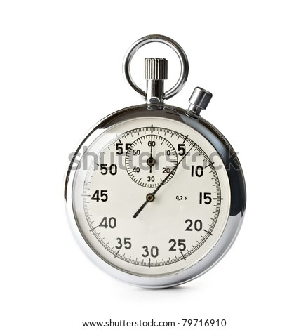 Stopwatch isolated on the white background - stock photo