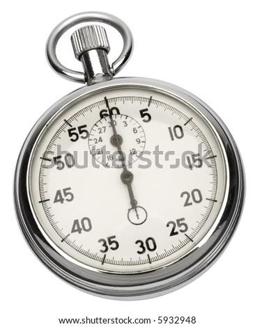 Stopwatch - isolated on white - stock photo