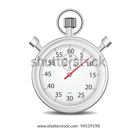 Stopwatch isolated on white