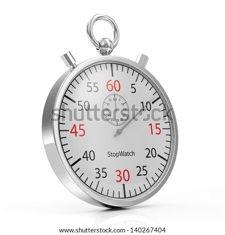 Stopwatch isolated on white background - stock photo