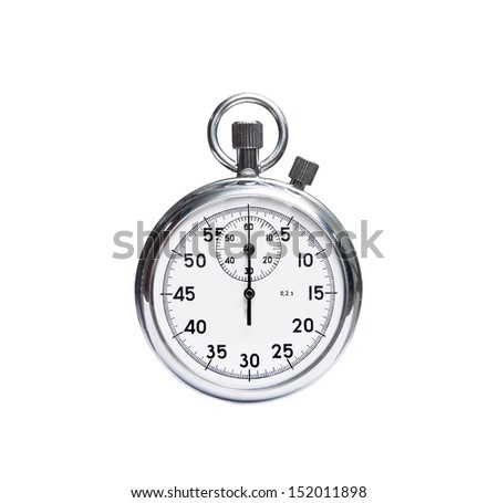 stopwatch isolated on white background - stock photo